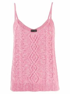 Cashmere In Love cable knit tank top - Pink