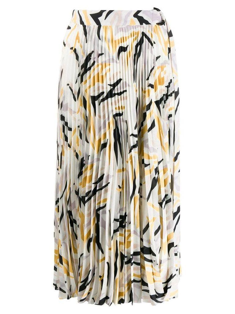 Áeron Magnolia pleated midi skirt - White