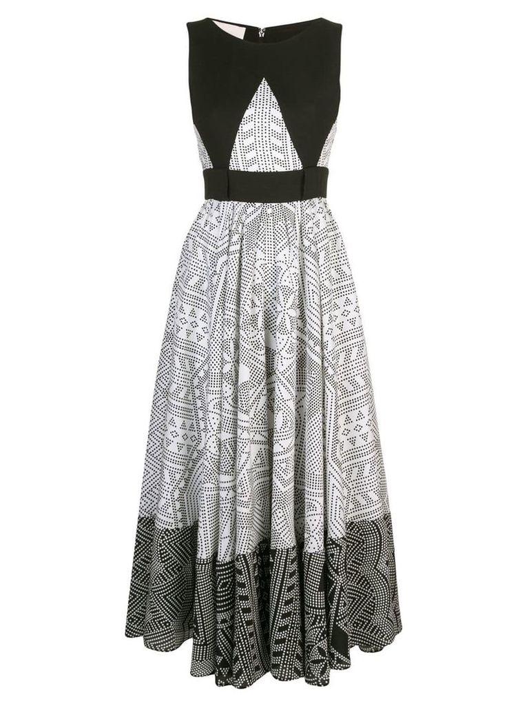 Antonio Berardi geometric midi dress - White