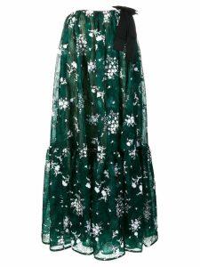 Erdem flared midi dress - Green