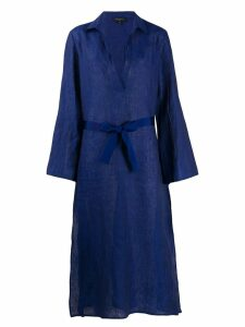 Antonelli tie waist dress - Blue