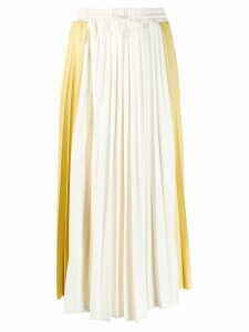Moncler contrast panel pleated skirt - Yellow