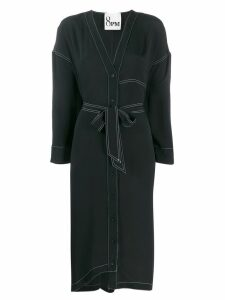 8pm V-neck shirt dress - Black