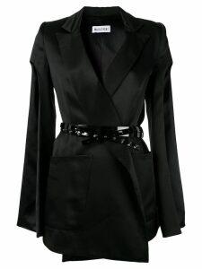 Maticevski slit sleeves belted blazer - Black