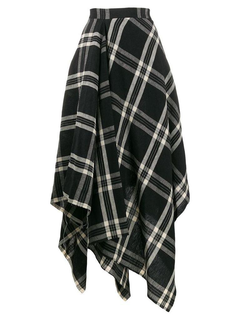 Vivienne Westwood check skirt - Black