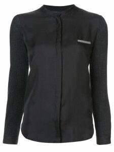 Fabiana Filippi collarless blouse - Black