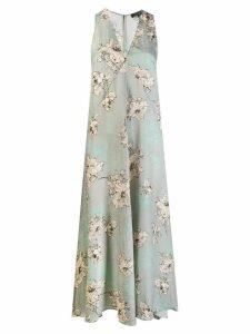 Antonelli floral print maxi dress - Grey