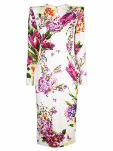 Alex Perry floral print dress - White
