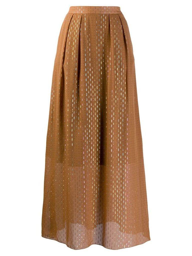 L'Autre Chose high waisted full skirt - Brown