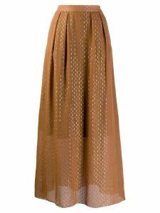 L'Autre Chose high waisted full skirt - Brown