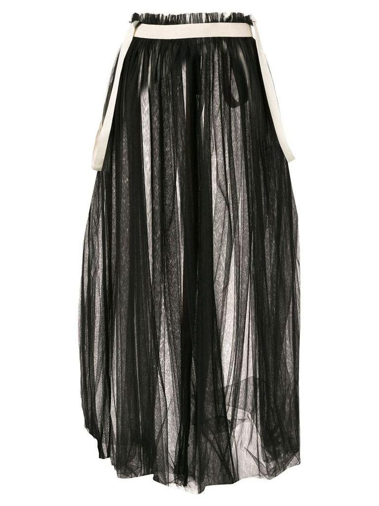 Aleksandr Manamïs full tulle skirt - Black