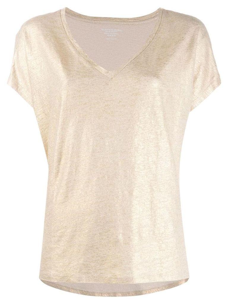 Majestic Filatures V-neck T-shirt - Gold
