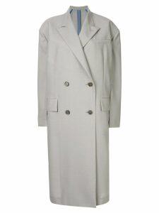 Irene oversized double-breasted coat - Grey
