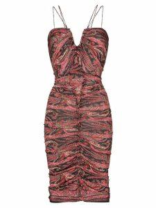 Isabel Marant Wilma tapestry print midi dress - Black