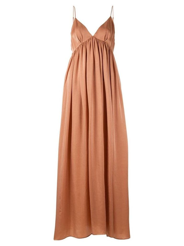 Uma Wang v-neck flared dress - Orange