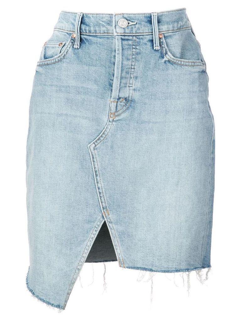 Mother front slit skirt - Blue