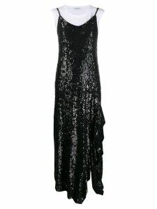 P.A.R.O.S.H. sequinned maxi slip dress - Black