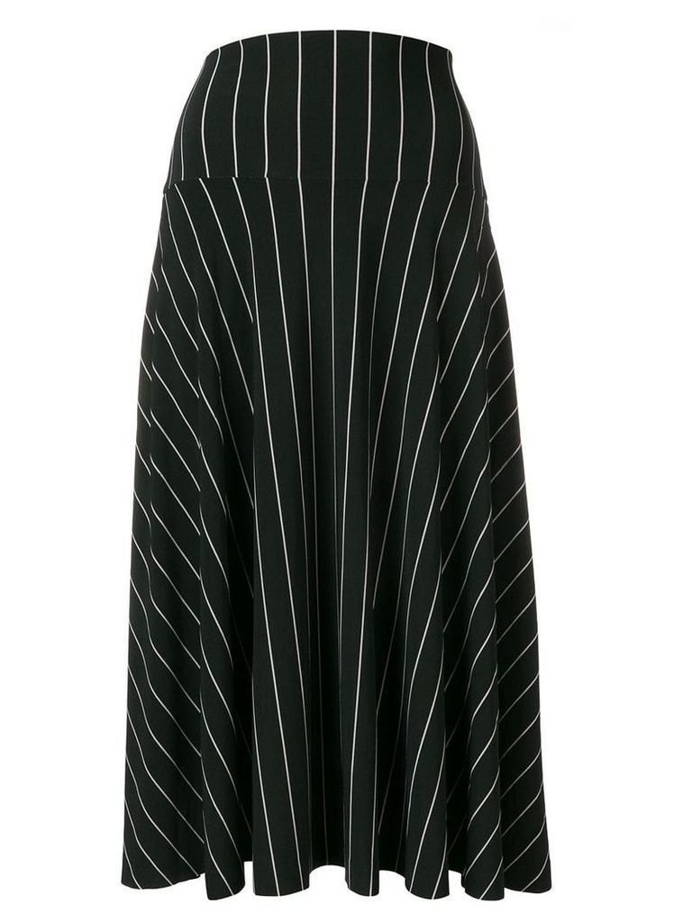 Norma Kamali striped skirt - Black