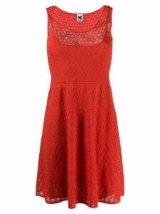 M Missoni knitted mid dress - Red