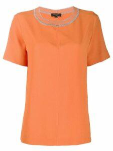 Antonelli glitter detail blouse - Orange