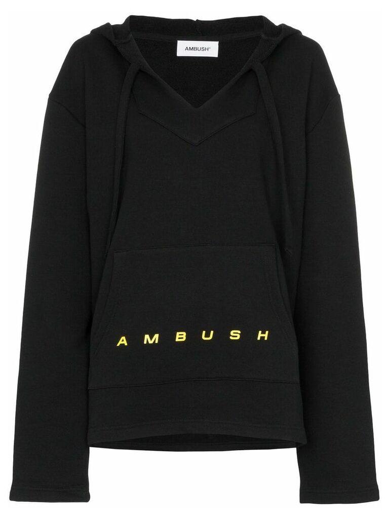 AMBUSH logo print oversized hoodie - Black
