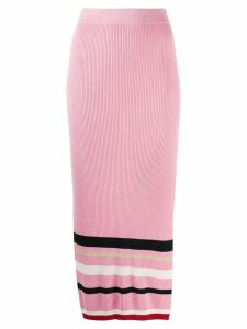 Cashmere In Love high waisted knitted skirt - Pink