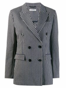 Circolo 1901 striped double-breasted blazer - Blue