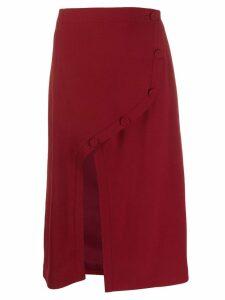 Rokh front slit midi skirt - Red