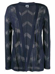 M Missoni perforated cardigan - Blue
