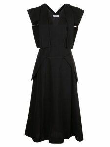 Jil Sander v-neck dress - Black
