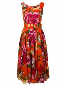 Samantha Sung flared Aster dress - Orange