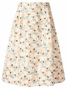 Marni patterned a-line skirt - Multicolour