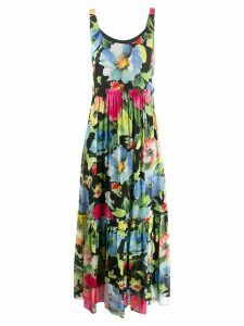 Twin-Set floral print maxi dress - Black
