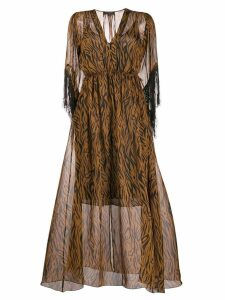 Antonelli all-over print dress - Brown