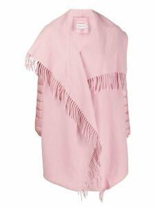 Moncler fringed tassel overcoat - Pink