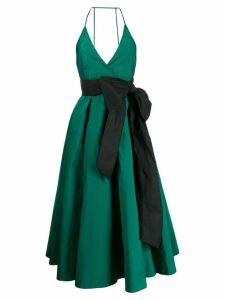 Nº21 bow detail evening dress - Green