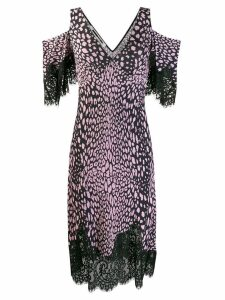 McQ Alexander McQueen cold-shoulder animal-print dress - Black