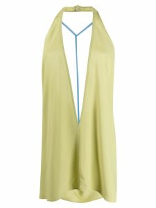 Rick Owens double V halterneck top - Green