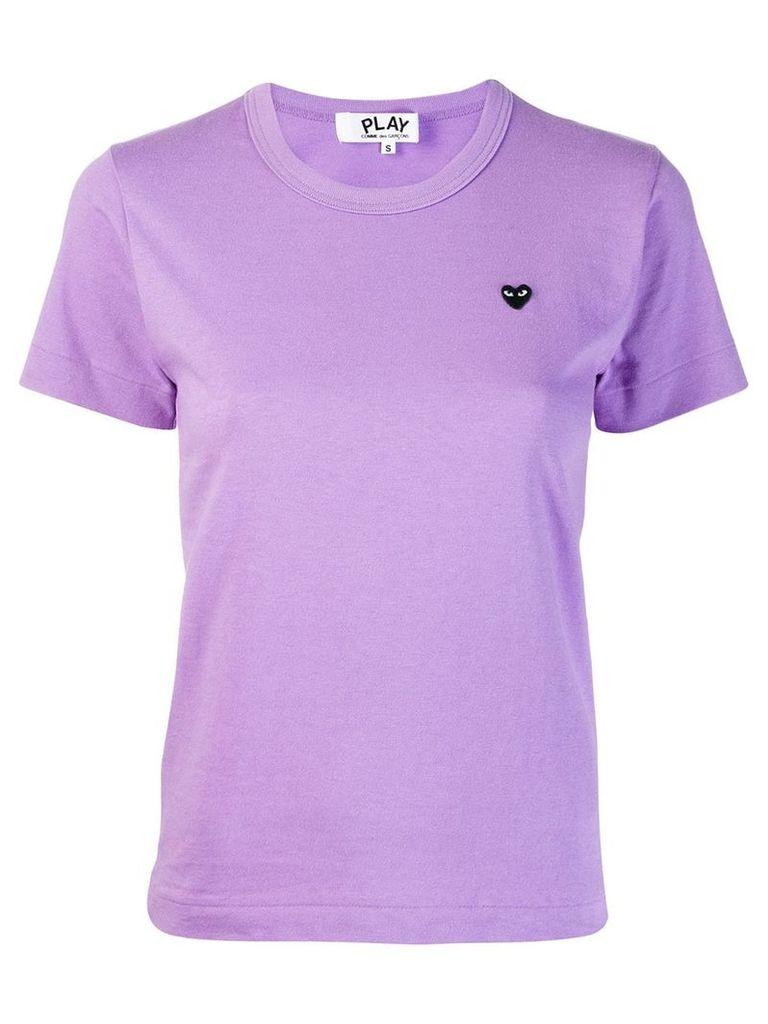 Comme Des Garçons Play Heart embroidered T-shirt - Purple