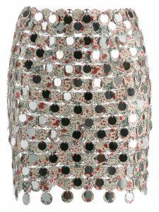 Paco Rabanne short pailette skirt - Neutrals