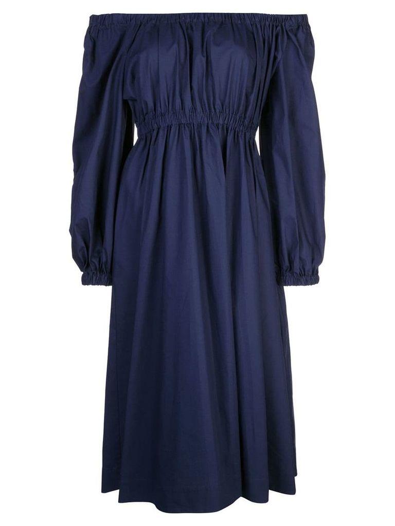 Molly Goddard blouson sleeve dress - Blue