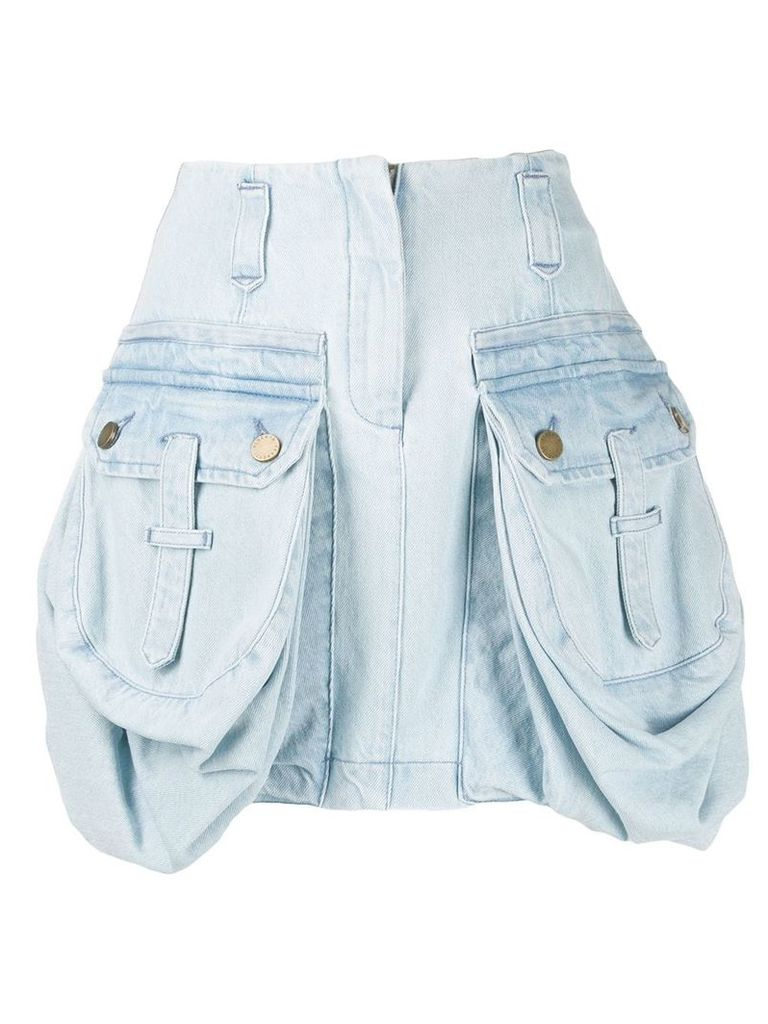 Alberta Ferretti cargo pocket skirt - Blue