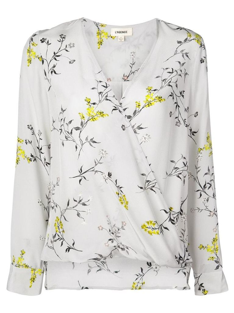 L'agence floral print blouse - Grey