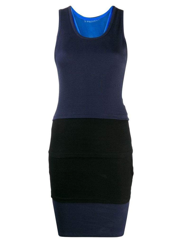 Y/Project fitted tank dress - Blue