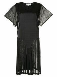 Maison Margiela pleated midi dress - Black