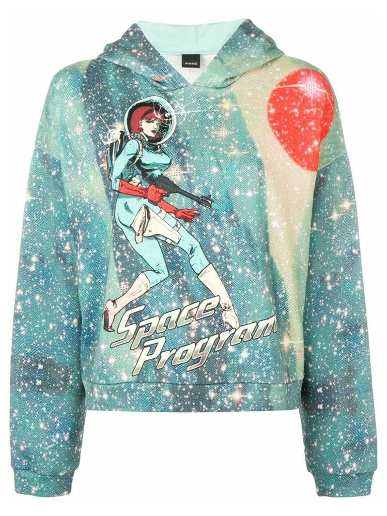 Pinko Space Program printed hoodie - Green