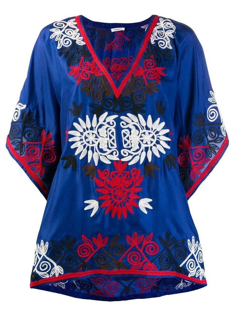 P.A.R.O.S.H. embroidered tunic - Blue