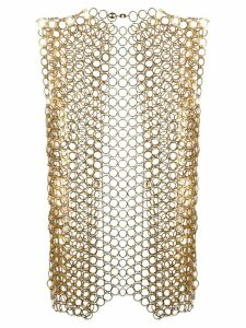 Paco Rabanne metal eyelet waistcoat - Gold