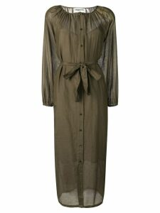 Essentiel Antwerp sheer shirt dress - Green