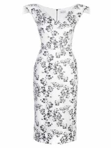 Maticevski flower embellished dress - White